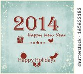 happy new year 2014 celebration ... | Shutterstock .eps vector #165623183