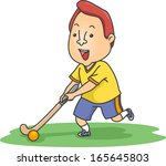 illustration of a field hockey... | Shutterstock .eps vector #165645803
