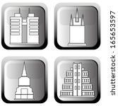 abstract buildings silhouettes... | Shutterstock .eps vector #165653597