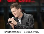 michael buble on stage for nbc... | Shutterstock . vector #165664907