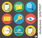 vector icons for web and mobile ... | Shutterstock .eps vector #165675527