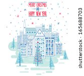 merry christmas and happy new... | Shutterstock .eps vector #165688703