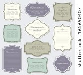 vintage frame and label set.... | Shutterstock .eps vector #165690407