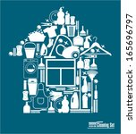 cleaning illustration. | Shutterstock .eps vector #165696797