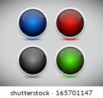 cool color shiny plastic web... | Shutterstock .eps vector #165701147