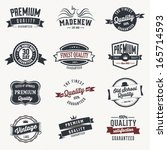 set of  vector stickers and... | Shutterstock .eps vector #165714593