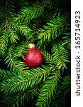Christmas Card With  Festive...
