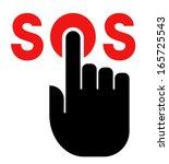 press sos button icon | Shutterstock .eps vector #165725543