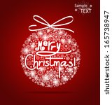 christmas background with merry ... | Shutterstock .eps vector #165738947