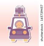 baby design over pink ... | Shutterstock .eps vector #165739457