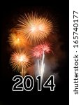 2014 new year celebration with... | Shutterstock . vector #165740177