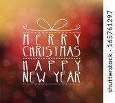 vintage christmas  gift... | Shutterstock .eps vector #165761297