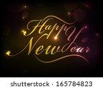 happy new year 2014 celebration ... | Shutterstock .eps vector #165784823