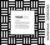 abstract black and white text... | Shutterstock .eps vector #165801263