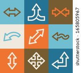 arrows web icons  vintage series | Shutterstock .eps vector #165805967