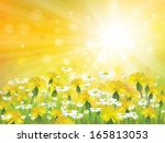 vector sunshine background with ... | Shutterstock .eps vector #165813053