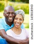 outdoor portrait of romantic...   Shutterstock . vector #165818543