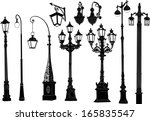 Illustration With Street Lamps...