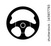 icon steering wheel   Shutterstock .eps vector #165857783