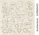 sketchy speech bubbles in... | Shutterstock .eps vector #165860423