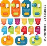 web element set | Shutterstock .eps vector #165868883