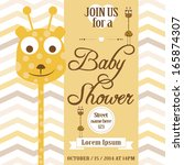 baby shower invitation | Shutterstock . vector #165874307