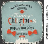christmas greeting card. merry... | Shutterstock .eps vector #165884747