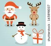 christmas  santa claus ... | Shutterstock .eps vector #165898037