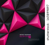 Pink And Black Vector Geometri...