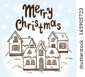 christmas card concept. holiday ... | Shutterstock . vector #165905723