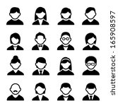 user icons set  | Shutterstock . vector #165908597