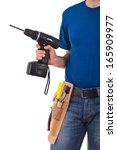 blue collar worker.   Shutterstock . vector #165909977