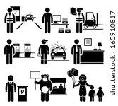 poor low class jobs occupations ...   Shutterstock .eps vector #165910817