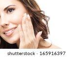 portrait of happy smiling... | Shutterstock . vector #165916397