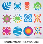 abstract icons. set of icons... | Shutterstock .eps vector #165923903