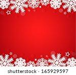 red christmas background | Shutterstock .eps vector #165929597
