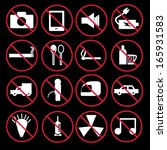 prohibition signs set | Shutterstock .eps vector #165931583