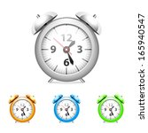 set of common alarm clock. | Shutterstock .eps vector #165940547