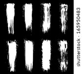 vector set of grunge brush... | Shutterstock .eps vector #165950483