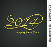 happy new year 2014 celebration ... | Shutterstock .eps vector #165950903
