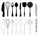 kitchen utensils vector. ... | Shutterstock .eps vector #165958847
