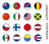 world flag icons   stickers 1 4 ... | Shutterstock .eps vector #165969647