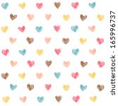 vector seamless pattern with... | Shutterstock .eps vector #165996737