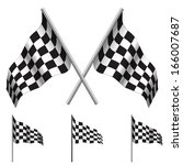 Crossed Checkered Flags  Racin...