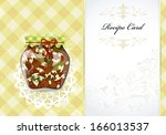 healthy food recipe card | Shutterstock .eps vector #166013537