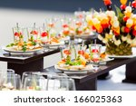 catering for wedding | Shutterstock . vector #166025363