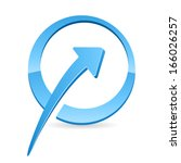 trend  arrow icon  | Shutterstock .eps vector #166026257
