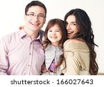 portrait of a happy family... | Shutterstock . vector #166027643