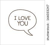 bubble with declaration of love.... | Shutterstock .eps vector #166033247