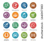 seo   internet marketing icons  ... | Shutterstock .eps vector #166047383